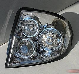 Фонари Hyundai Getz тюнинг Led оптика (хром)
