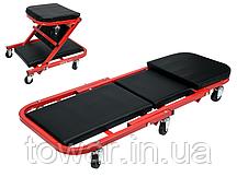 Лежак автослесарный 2 В 1 YATO YT-08802