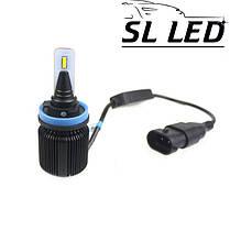 LED лампы в головной свет серии SM1 Цоколь H11, H8, H9, 20W, 2800 Люмен/Комплект 6000K, фото 2