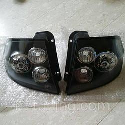 Фонари Hyundai Getz тюнинг Led оптика (черные)