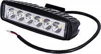 LED фара светодиодная прямоугольная 18W DK