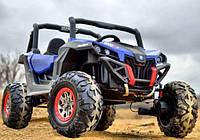 Детский электромобиль джип Багги BUGGY синий (белый, черный, красный, хаки) M 3602 EBLR-4