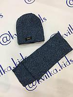 Набор на мальчика шапка +шарф размеры 52-54