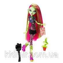 Кукла Monster High Венера МакФлайтрап Venus Mc Flytrap с мухоловкой базовая Монстр Хай