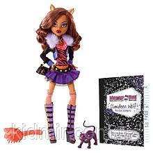 Кукла Monster High Клодин Вульф (Clawdeen Wolf) c дикой кошкой базовая Монстр Хай