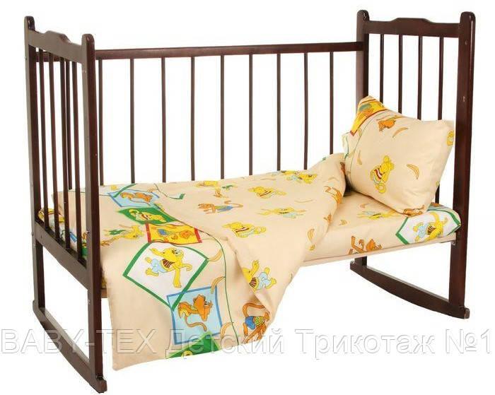 Комплект дитячої постільної білизни для новонародженого 3 в 1 бязь