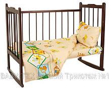 Комплект детского постельного белья для новорожденного 3 в 1 бязь