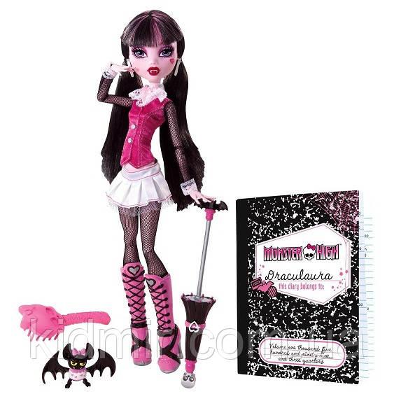 Кукла Monster High Дракулаура (Draculaura) с летучей мышью базовая Монстр Хай