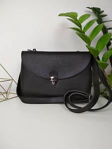Женская черная плечевая сумка с двумя отделениями 17*24*9 см