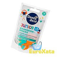Палочки зубные с нитью для детей DONTODENT Zahnseide-Sticks Junior от 6 лет (16 шт) Германия