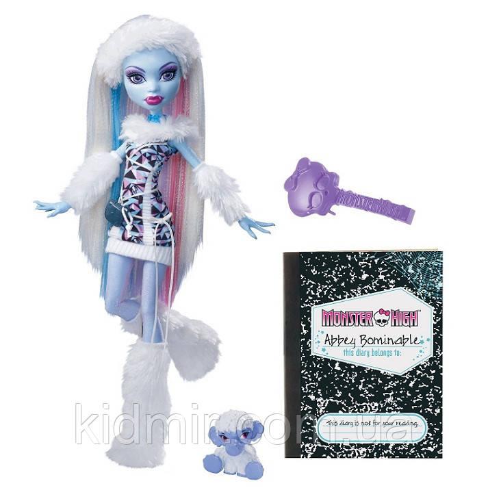 Лялька Monster High Еббі Боминейбл (Abbey Bominable) з мамонтенком базова Монстр Хай