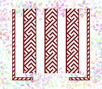 K-262 Красный орнамент. Confetti. Водорастворимый флизелин с рисунком