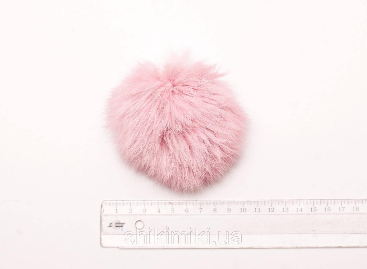 Помпон из меха кролика (10-12мм), цвет Светло-розовый
