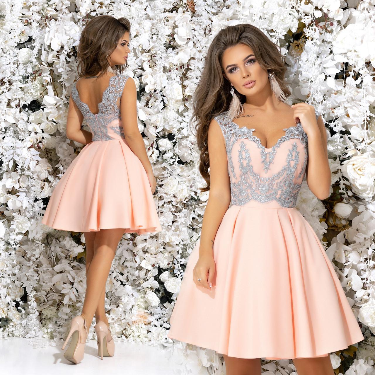 835e6672fd2 Шикарное короткое платье подъюбник из фатина. Розовое с серым