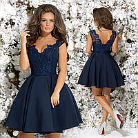 f079c2bd154 Шикарное короткое платье подъюбник из фатина. Тёмно-синее