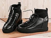 Закрытые высокие туфли. Сникерсы L.F. black, р.36-41, фото 1