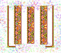 K-266 Гуцульский орнамент. Confetti. Водорастворимый флизелин с рисунком