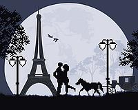 """Заготовка для вишивки бісером картина """"Паризька весна"""" 32х26 см"""