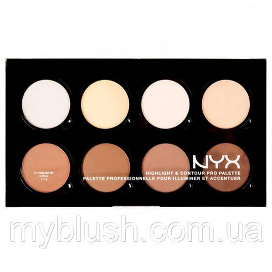Палитра для контуринга лица NYX Highlight & Contour Pro Palette