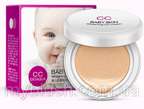 Кушон для лица BioАqua Brand Baby Skin Air Cushion BB CC № 3 (жидкая пудра)