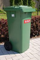 Мусорный бак для ТБО 120л SULO (Германия) Зеленый