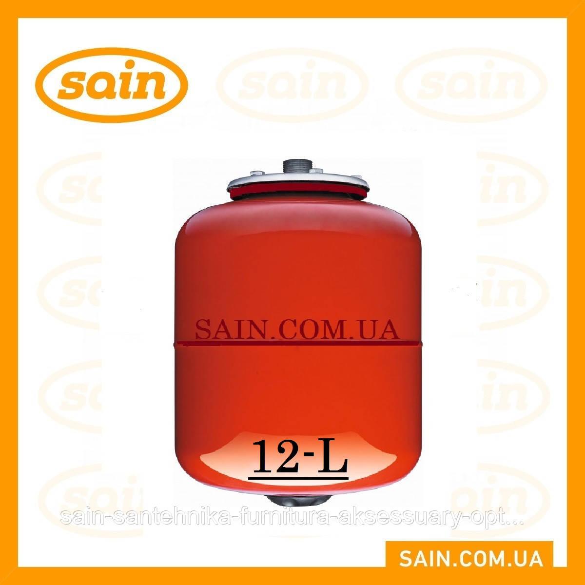 Расширительный бак 12 L круглый, для закрытой системы отопления:  выбор, установка,расчет.