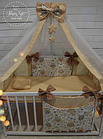 Органайзер,карман на ліжечко в бежевих тонах 1388