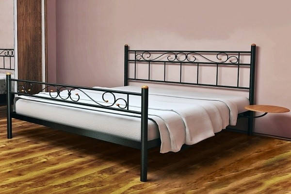 Кровать металлическая Эсм ТМеральда 2 120х190 см ТМ Метакам, фото 2