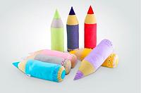 Детская декоративная подушка карандаш-валик 58х15см разные цвета