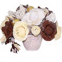 Букет из конфет Кофейный 29 цветов