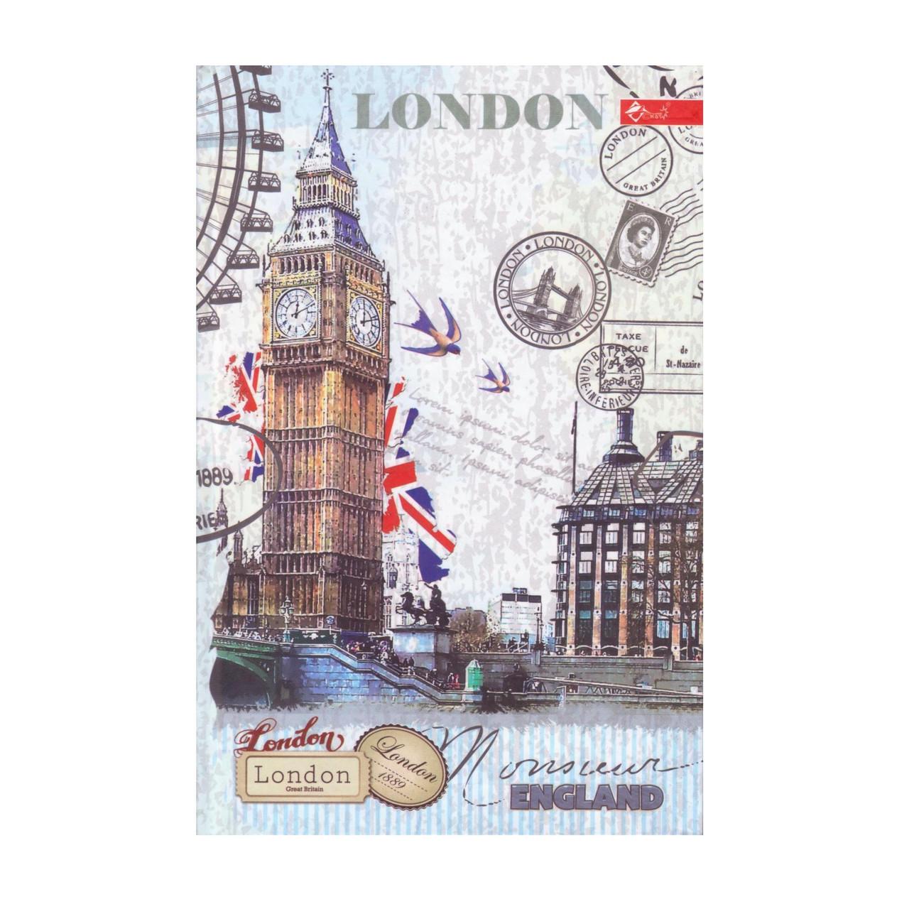 """Скетчбук А5,120 л. """"Лондон"""" твёрдая обложка"""