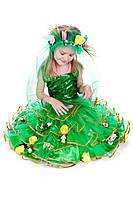Детский карнавальный костюм Весна с цветами код 1016