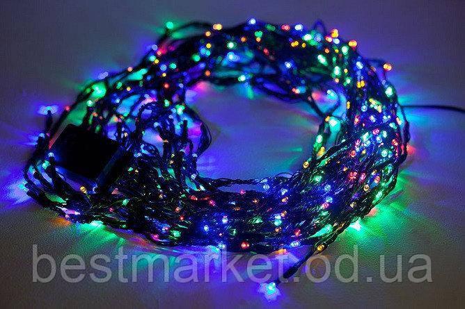 Новогодняя Внутренняя Гирлянда Нить на Елку 200 Лампочек Разноцветная