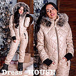 Женский теплый зимний лыжный комбинезон (4 цвета), фото 9