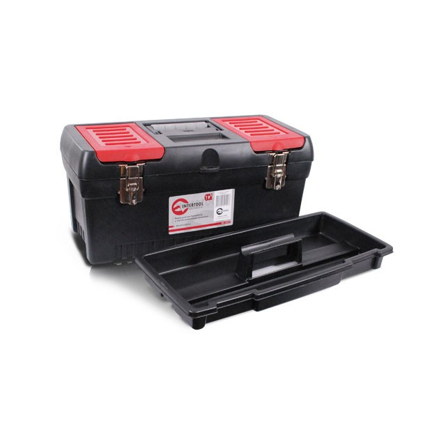 Скринька для інструментів з металевими замками INTERTOOL BX-1019