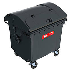 Мусорный бак для ТБО 1100л SULO (Германия) сферическая крышка, крышка в крышке