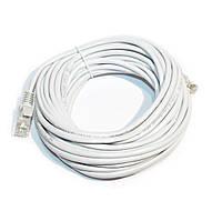 Патч-корд 8 м, UTP, Grey, литой, RJ45, кат.5е, витая пара, сетевой кабель для интернета