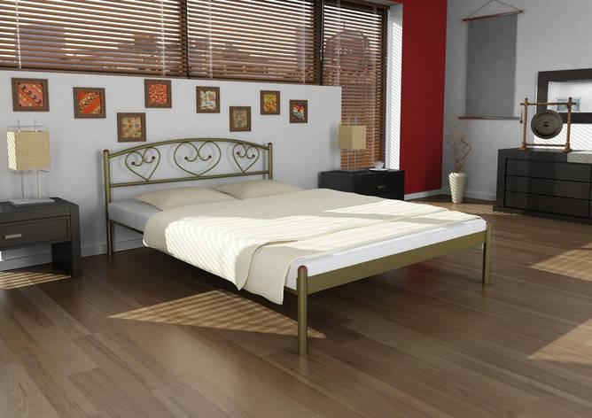 Кровать металлическая Darina 1 80х190 см ТМ Метакам, фото 2