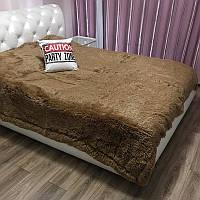 Меховое покрывало на кровать, 220х240, ореховый
