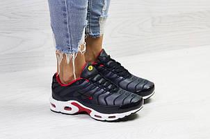 Подростковые зимние кроссовки Nike air max TN,темно синие с белым на меху 36,39р, фото 2