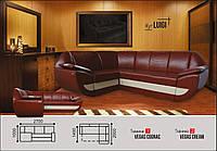 Угловой диван Луиджи коричневый Элизиум, фото 1