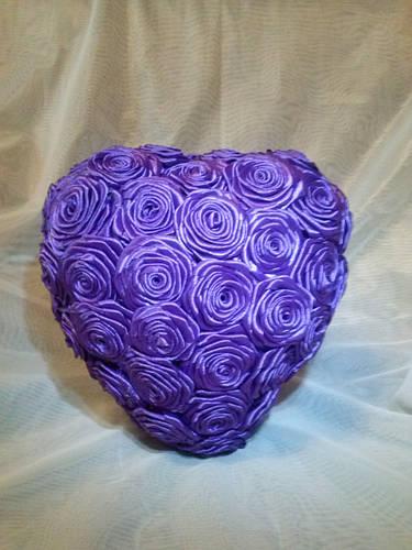 Сердце из искусственных цветов 3D