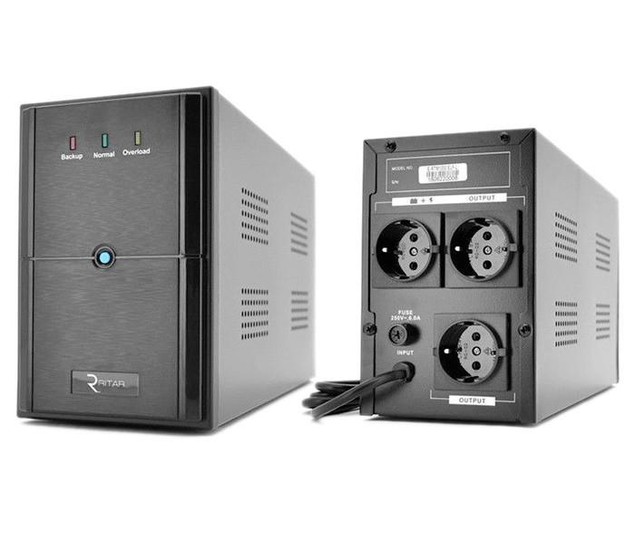ИБП (UPS) Ritar E-RTM1000 (E-RTM1000L) ELF-L Black, 1000VA
