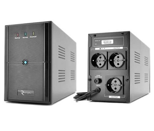 ИБП (UPS) Ritar E-RTM1000 (E-RTM1000L) ELF-L Black, 1000VA, фото 2
