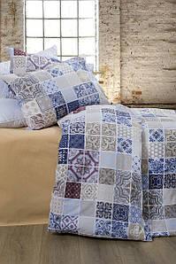 Постельное белье Lotus Premium - Megan синий евро