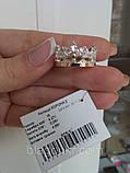Серебряное кольцо Корона 2 с накладкой золота, фото 5