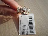 Серебряное кольцо Корона 2 с накладкой золота, фото 9