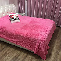 Покрывало из искуственного меха (220х240), грязно розовый