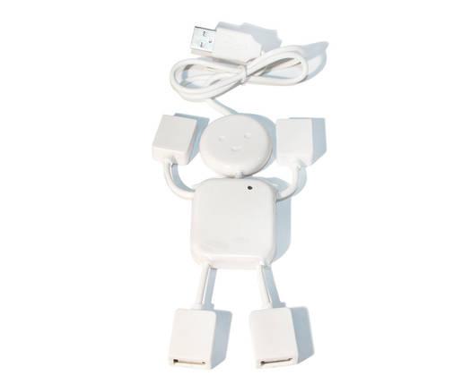 Хаб USB 2.0 Lapara LA-UH4372 white 4 порта USB 2.0 трансформер белый, фото 2