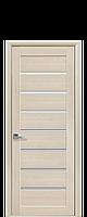 Дверь Леона Новый стиль экошпон с матовым стеклом, цвет дуб жемчужный